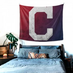 Easy To Hang MLB Cleveland Indians tapestry 60*51inch #150758 For Bedroom,Living Room