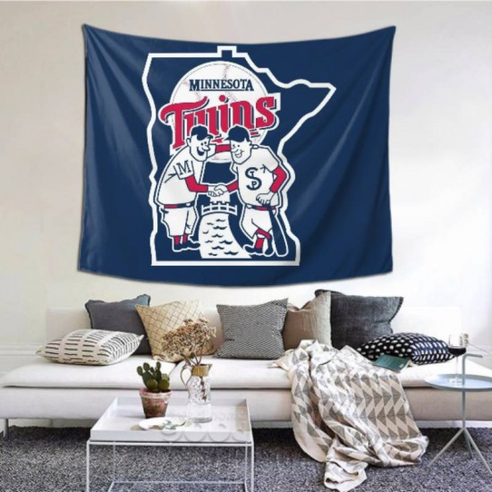 Durable MLB Minnesota Twins tapestry 60*51inch #151674 For Beach Shawl, Scarf, Blanket